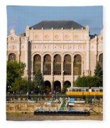 Vigado Concert Hall In Budapest Fleece Blanket