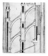 Villard De Honnecourt (c1225-1250) Fleece Blanket