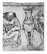 Villard De Honnecourt (fl Fleece Blanket