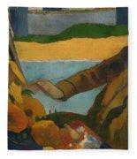 Vincent Van Gogh Painting Sunflowers Fleece Blanket