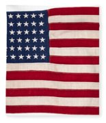Vintage American Flag Fleece Blanket