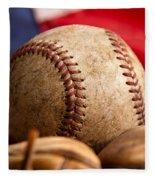 Vintage Baseball Fleece Blanket