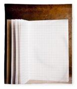 Vintage Blank Notepad Fleece Blanket