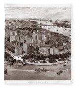 Vintage New York 1903 Fleece Blanket