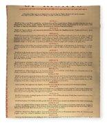 Virginia Constitution, 1776 Fleece Blanket