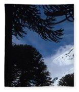Volcano In Patagonia, Argentina Fleece Blanket