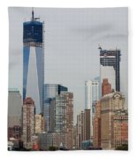 1 W T C And Lower Manhattan Fleece Blanket
