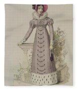 Walking Dress, Fashion Plate Fleece Blanket
