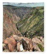Walls Of The Black Canyon Fleece Blanket