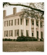 Warren Stone House In Alabama Fleece Blanket