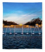 Washington D.c. - Fountains And World Fleece Blanket