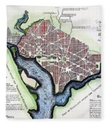 Washington, Dc, Plan, 1792 Fleece Blanket