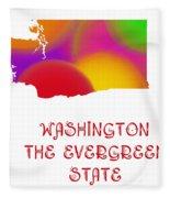 Washington State Map Collection 2 Fleece Blanket