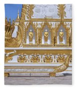 Wat Nong Bua West Side Of Main Stupa Base Dthu447 Fleece Blanket