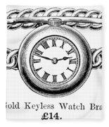 Watch Bracelet, 1891 Fleece Blanket