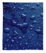 Water Drops On Metallic Surface Fleece Blanket