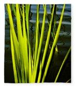 Water Reeds Fleece Blanket