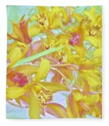 Giggling Watercolor Photography Fleece Blanket