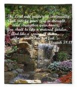 Watered Garden Fleece Blanket