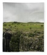 Waterfall Flowing Over The Edge Fleece Blanket