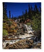 Waterfall In Jasper 1 Fleece Blanket