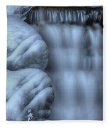 Waterfall Near Johnston Canyon Alberta Fleece Blanket