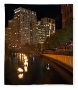 Waterfire.  Providence Rhode Island Fleece Blanket