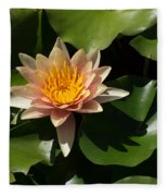 Exotic Colors - A Soft Coral Waterlily Fleece Blanket