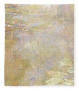 Waterlily Pond Fleece Blanket