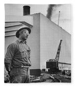 Watts Bar Dam, 1942 Fleece Blanket