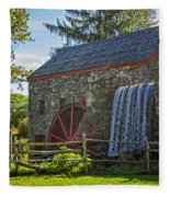 Wayside Inn Grist Mill Fleece Blanket