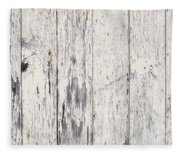 Weathered Paint On Wood Fleece Blanket