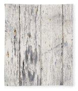 Weathered Paint On Wood Fleece Blanket