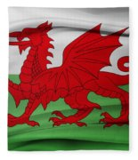 Welsh Flag Fleece Blanket