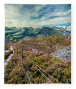 Welsh Mountains Fleece Blanket
