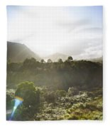West Coast Range Landscape In Tasmania Australia Fleece Blanket