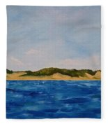 West Michigan Dunes Fleece Blanket