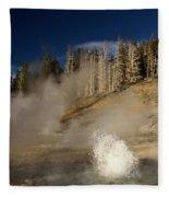 West Triplet Geyser Fleece Blanket