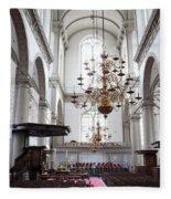 Westerkerk Interior In Amsterdam Fleece Blanket