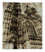 Westminster Abbey London Vintage Fleece Blanket
