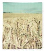 Wheat Crop Fleece Blanket