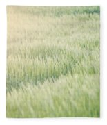 Wheat Field  Fleece Blanket