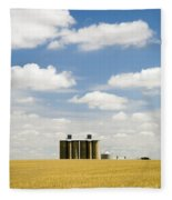Wheat Fields Fleece Blanket