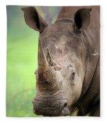 White Rhinoceros Fleece Blanket