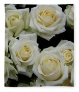 White Roses Fleece Blanket