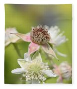 Wild Black Raspberry Blossom Fleece Blanket
