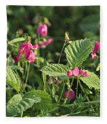 Wild Grass Flower Fleece Blanket