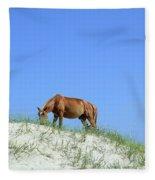 Wild Horses Of Corolla Fleece Blanket