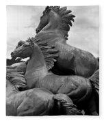 Wild Mustang Statue Fleece Blanket