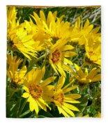 Wild Okanagan Sunflowers Fleece Blanket